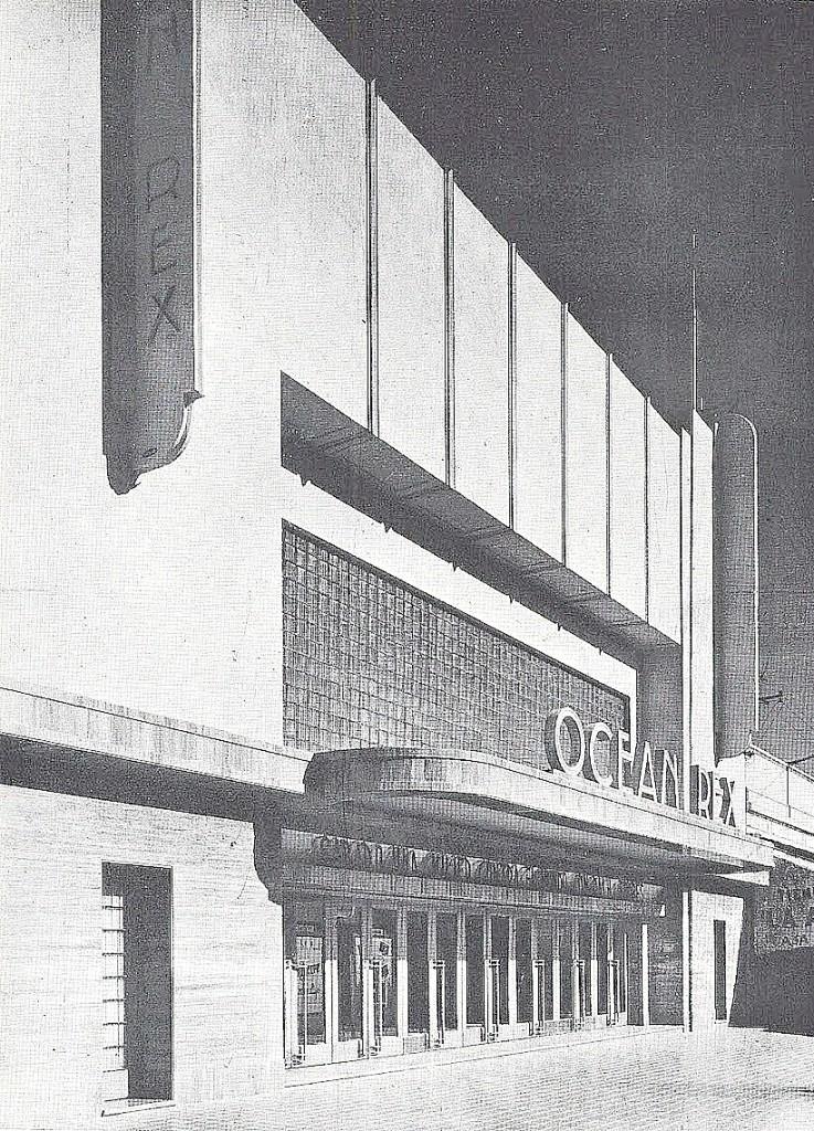El Ocean Rex de Independencia entre Rivadavia y San Martín, cuando fue inaugurado en 1939. Hoy funciona allí una sala de bingo.