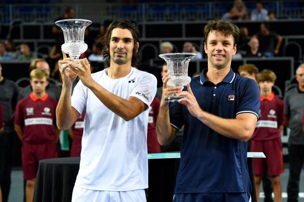 Julio Peralta celebró en el dobles de Metz