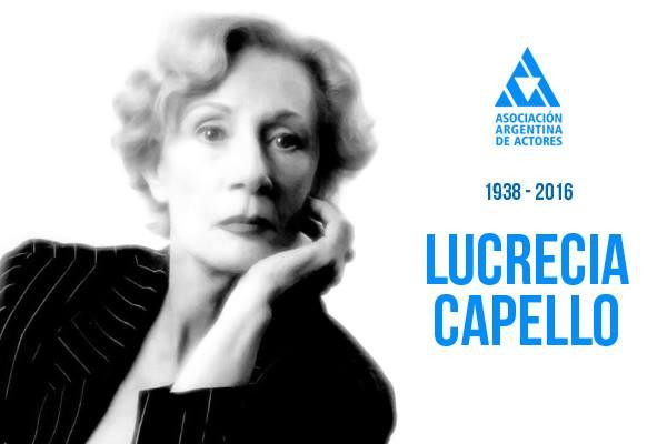 Falleció la actriz Lucrecia Capello