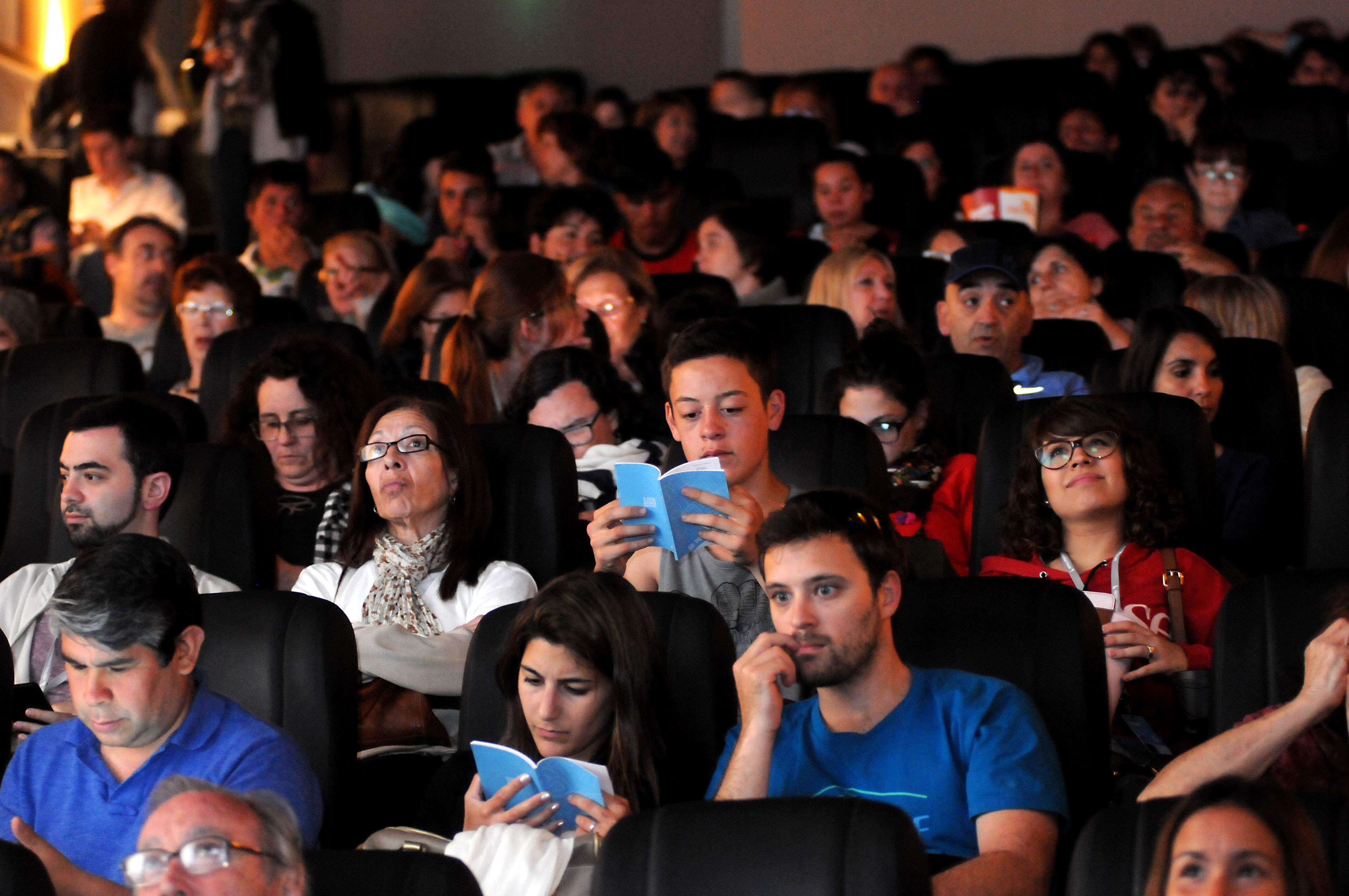 Las salas llenas a toda hora. El Festival es una fiesta del cine que Mar del Plata apoya con fuerza.