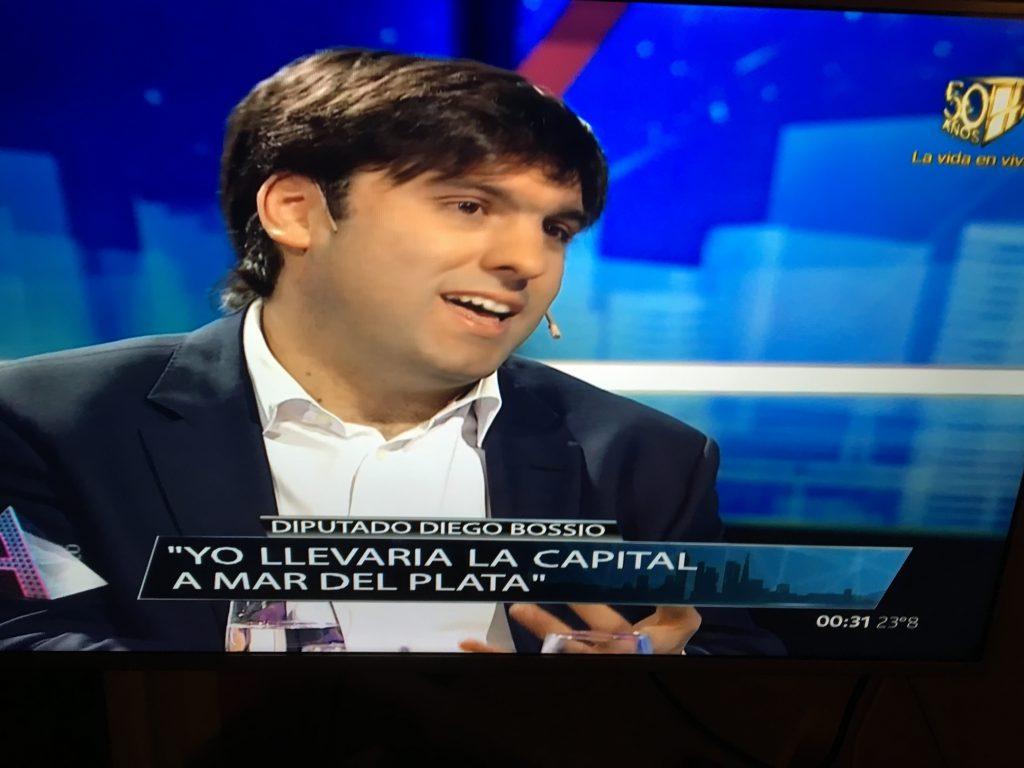 El diputado nacional Diego Bossio dijo que Mar del Plata debería convertirse en la capital de la provincia.