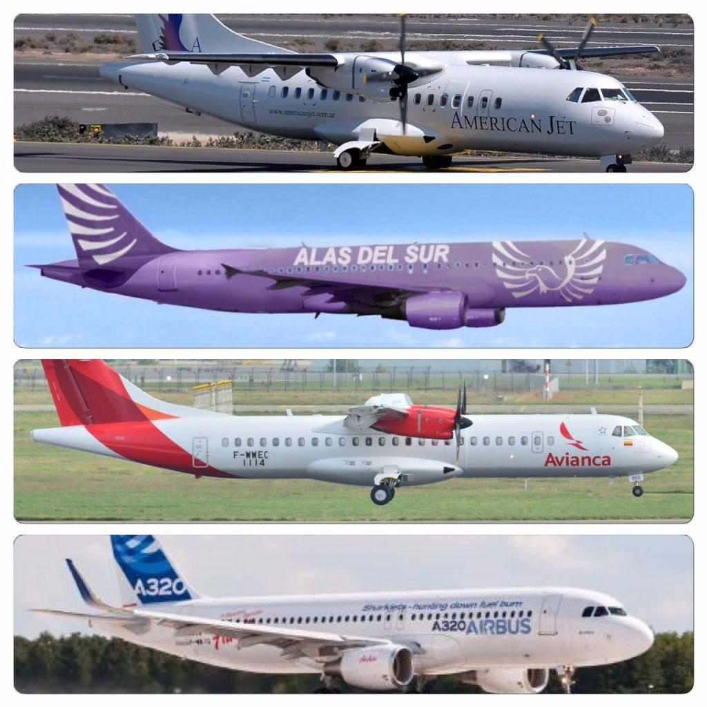 Resultado de imagen para Lineas aereas de Chile, uruguay paraguay y Brasil