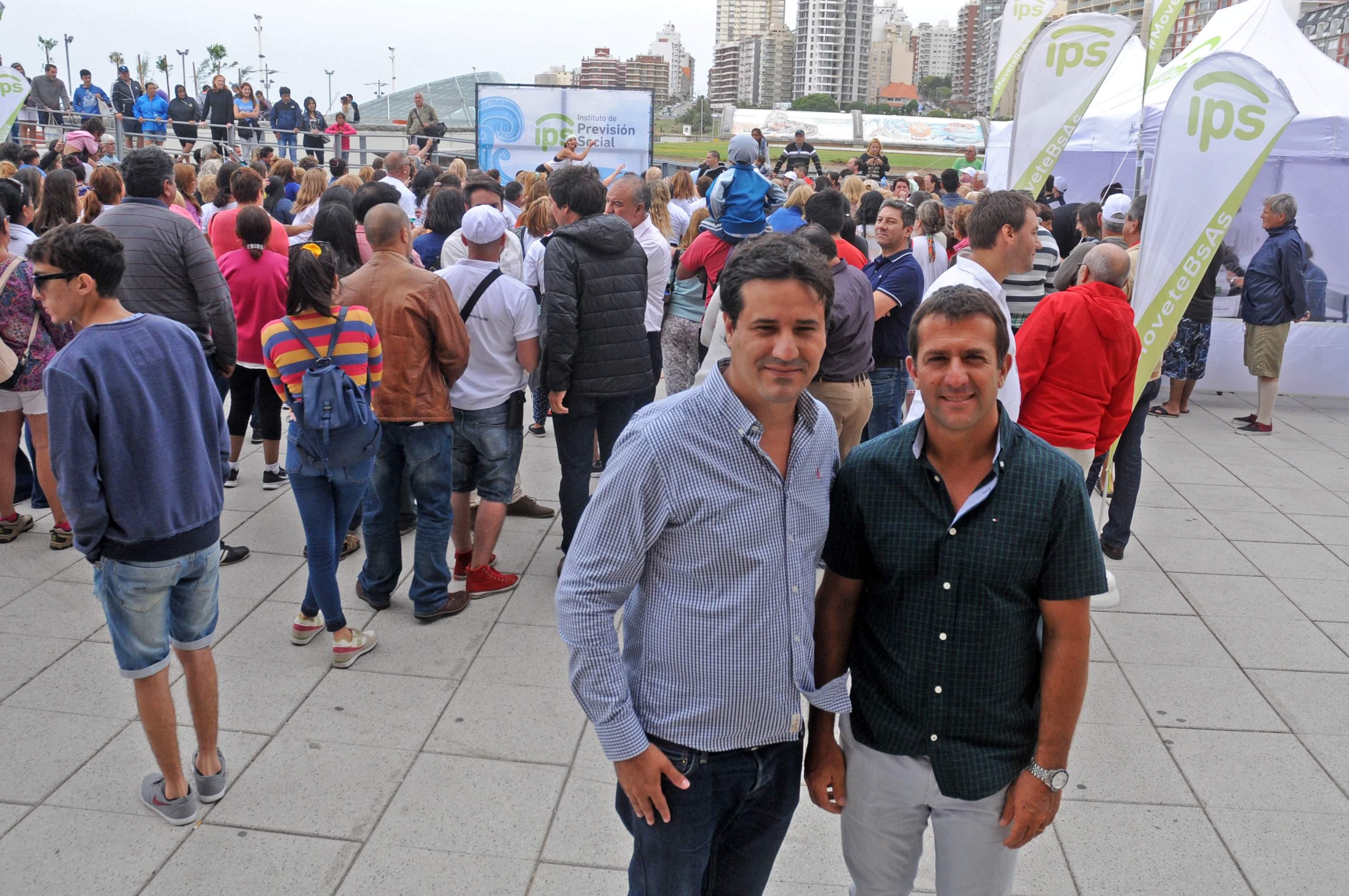 El presidente del Instituto de Previsión Social bonaerense (IPS), Christian Guibaudo y el diputado provincial Maximiliano Abad, unidos por la pasión por Boca.
