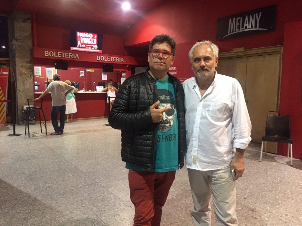 El periodista Fabián Banchero -este año no será jurado- y el director teatral Marcelo Marán, quien tampoco presentará obras para los Estrella de Mar