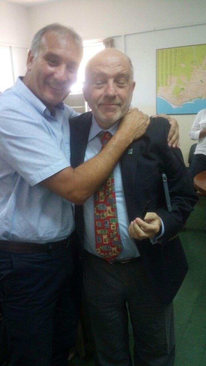 Gustavo Blanco, secretario de Salud, y su antecesor, Alejandro Ferro, y una pausa en el enfrentamiento que tienen desde hace meses ante la colega Jimena Paternoster.