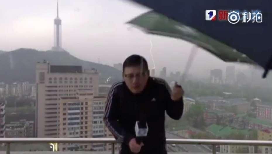 Periodista fue impactado por un rayo