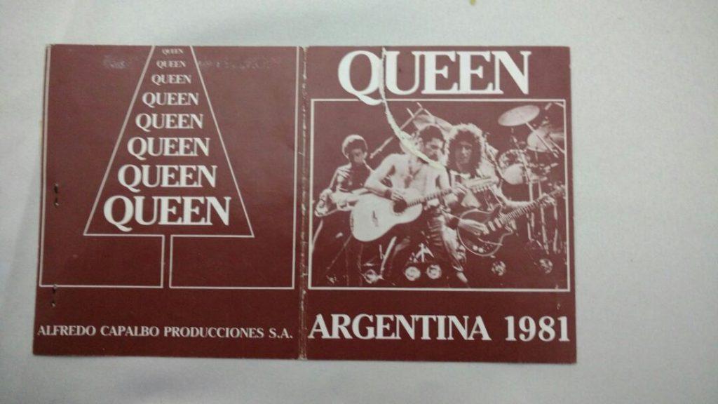 Una verdadera reliquia: la entrada para ver a Queen en Mar del Plata.