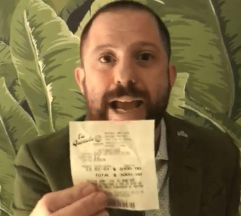 Ottavis volvió a ganar la lotería — Tremenda suerte