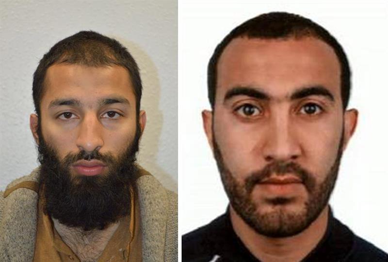 Dos terroristas de Londres identificados como Khuram Shazad y Rachid Redouane