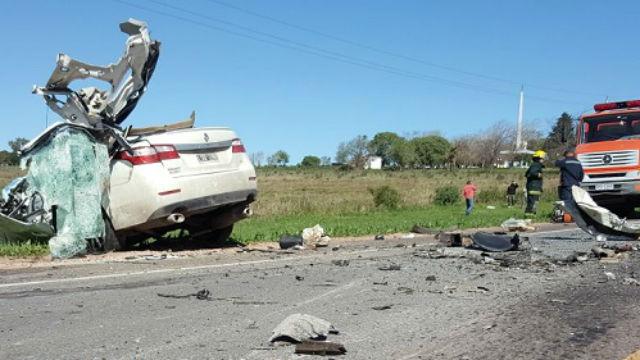 Tres argentinos fallecieron en un accidente de tránsito en Paysandú