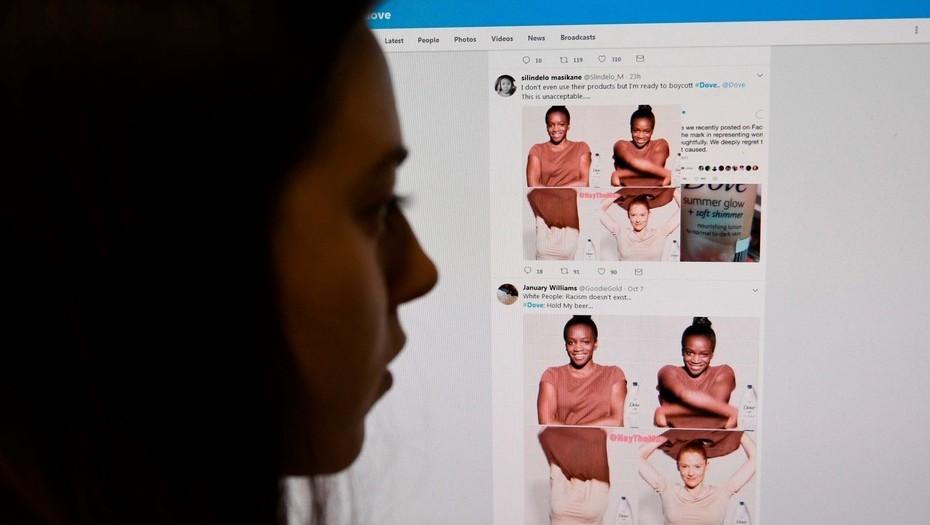 Dove causa polémica por publicidad racista — Twitter
