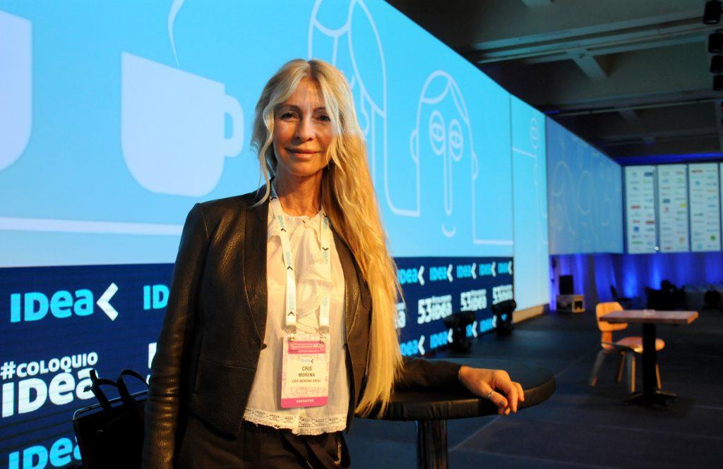 Cris Morena, presienta de Cris Morena Group fue una de las disertantes en la jornada de ayer. Mantuvo posteriormente un animado diálogo con el reconocido empresario Santiago Soldatti.