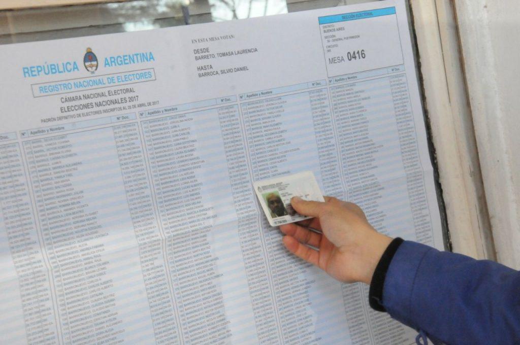 Documentos válidos para votar en los comicios de hoy