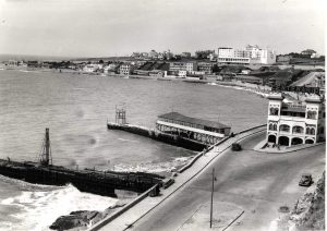 Playa de los Ingleses y Hotel Centenario. Década del '30.