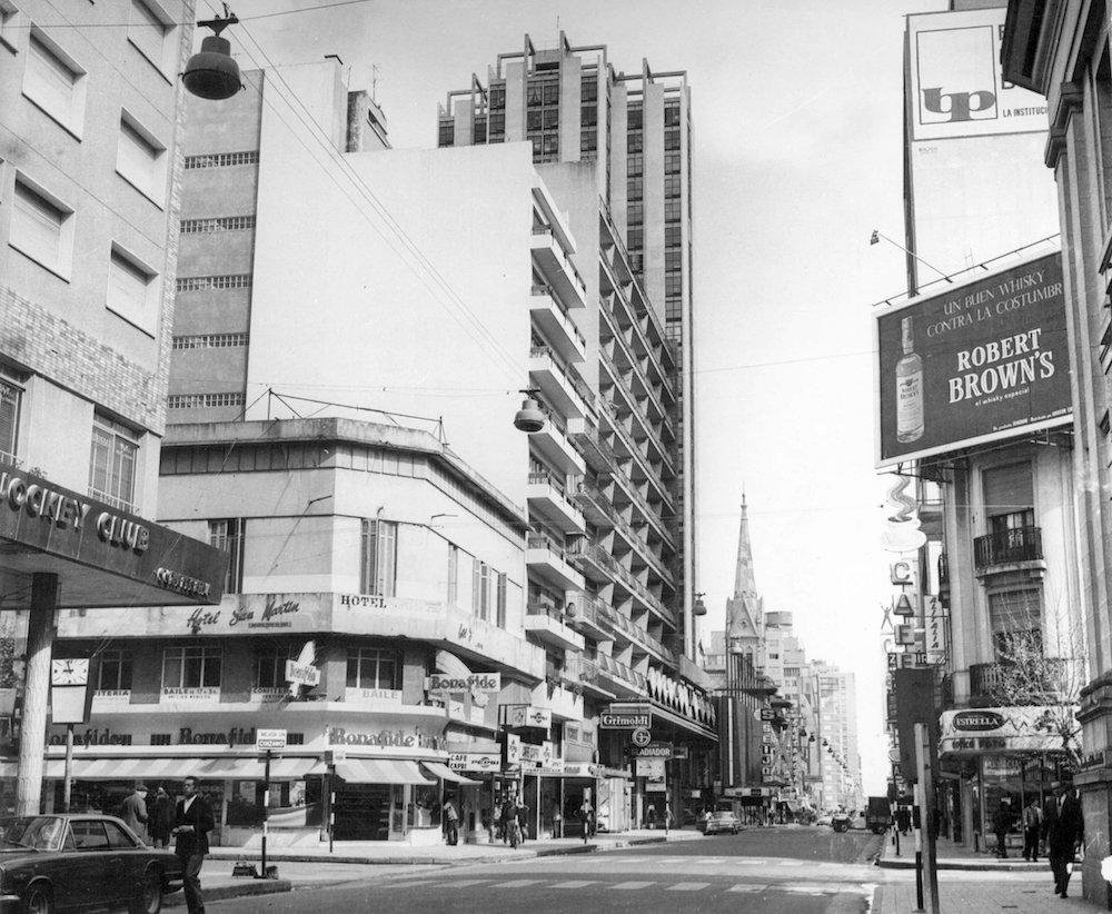 La calle San MartÍn, año 1969.