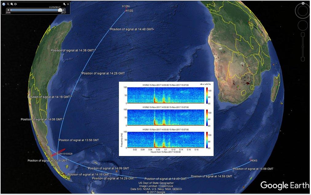 La explosión del submarino se captó desde África — ARA San Juan