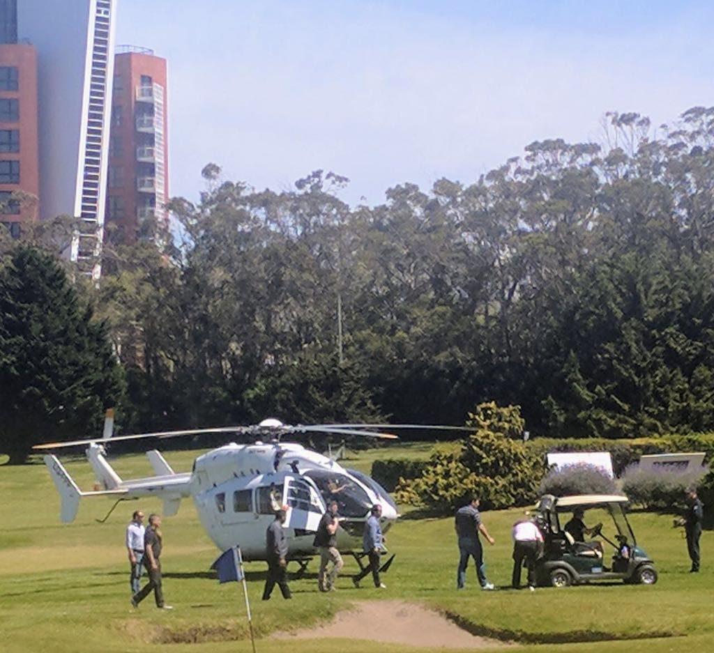 El helicóptero de Macri aterrizó de emergencia en Chapadmalal