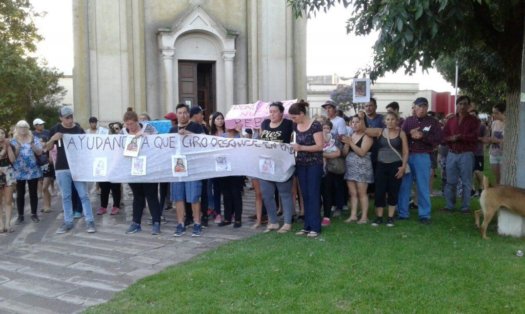 Concentración en Otamendi por la desaparición del cuerpo del bebé