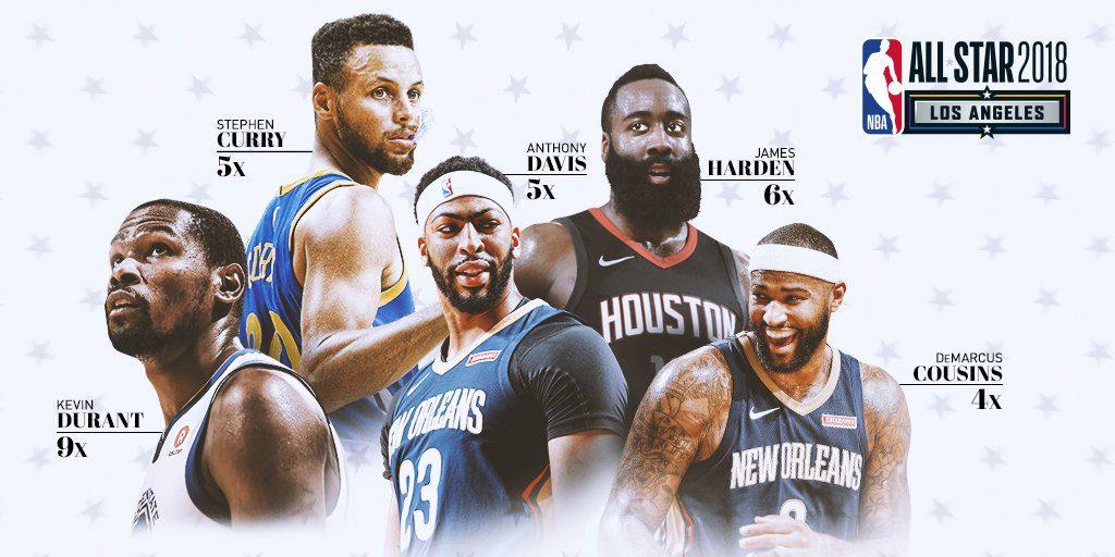 LeBron James, Stephen Curry, seleccionados como capitanes JE