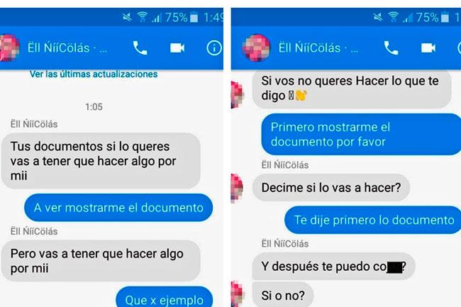 Encontró DNI y puso polémica condición para devolverlo [FOTOS — Facebook Messenger