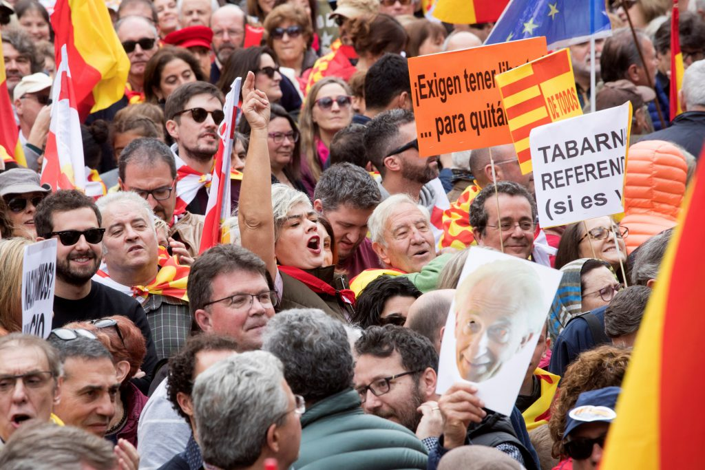 Se Movilizaron en Barcelona contra el independentismo