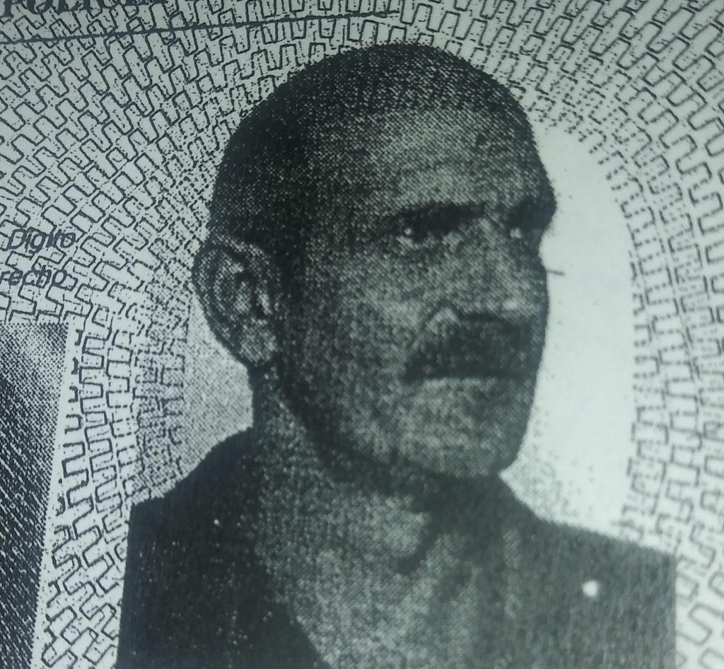 Luis Baldusi, en su foto de la cédula de identidad.