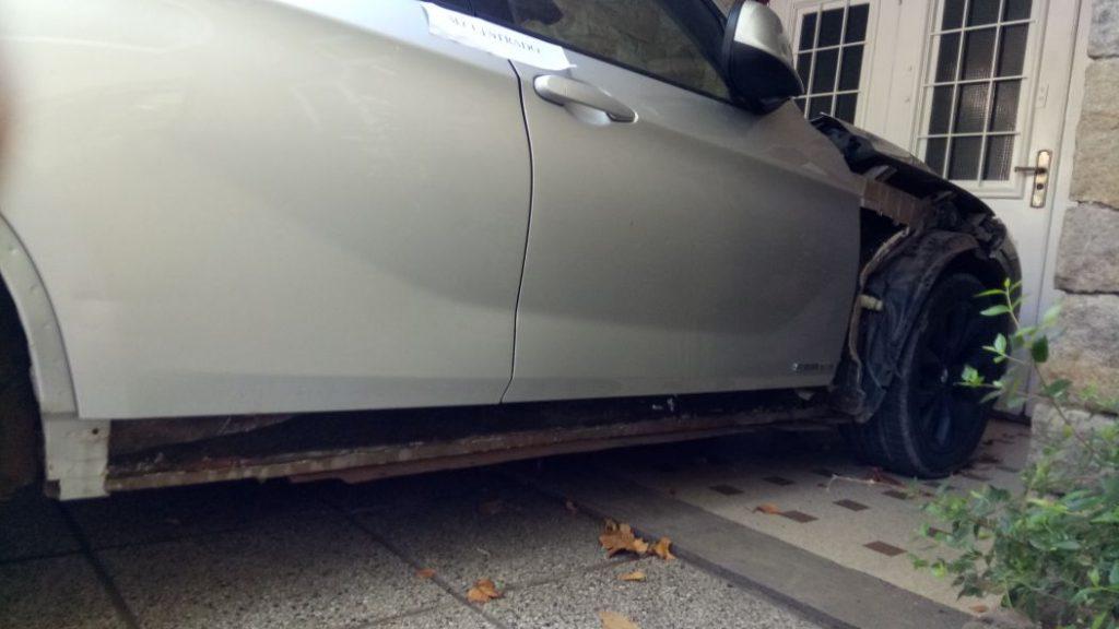 La droga había sido escondida dentro la carrocería de la camioneta BMW.