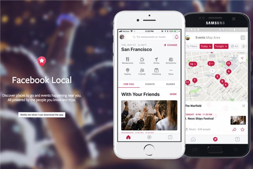 Facebook lanza app en México para descubrir tiendas y restaurantes
