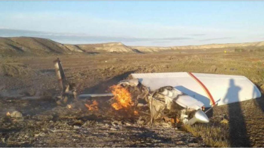 Se cayó una avioneta en Chubut: dos muertos y dos heridos graves