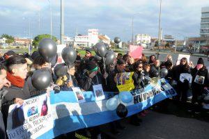 Familiares de las víctimas del buque Repunte, en una de sus manifestaciones.