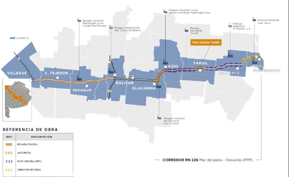 Dietrich anunció obras en las ruta 226 con el nuevo sistema de contratos PPP