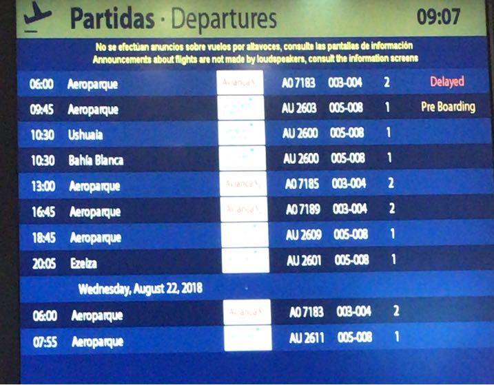 Aeropuerto demora