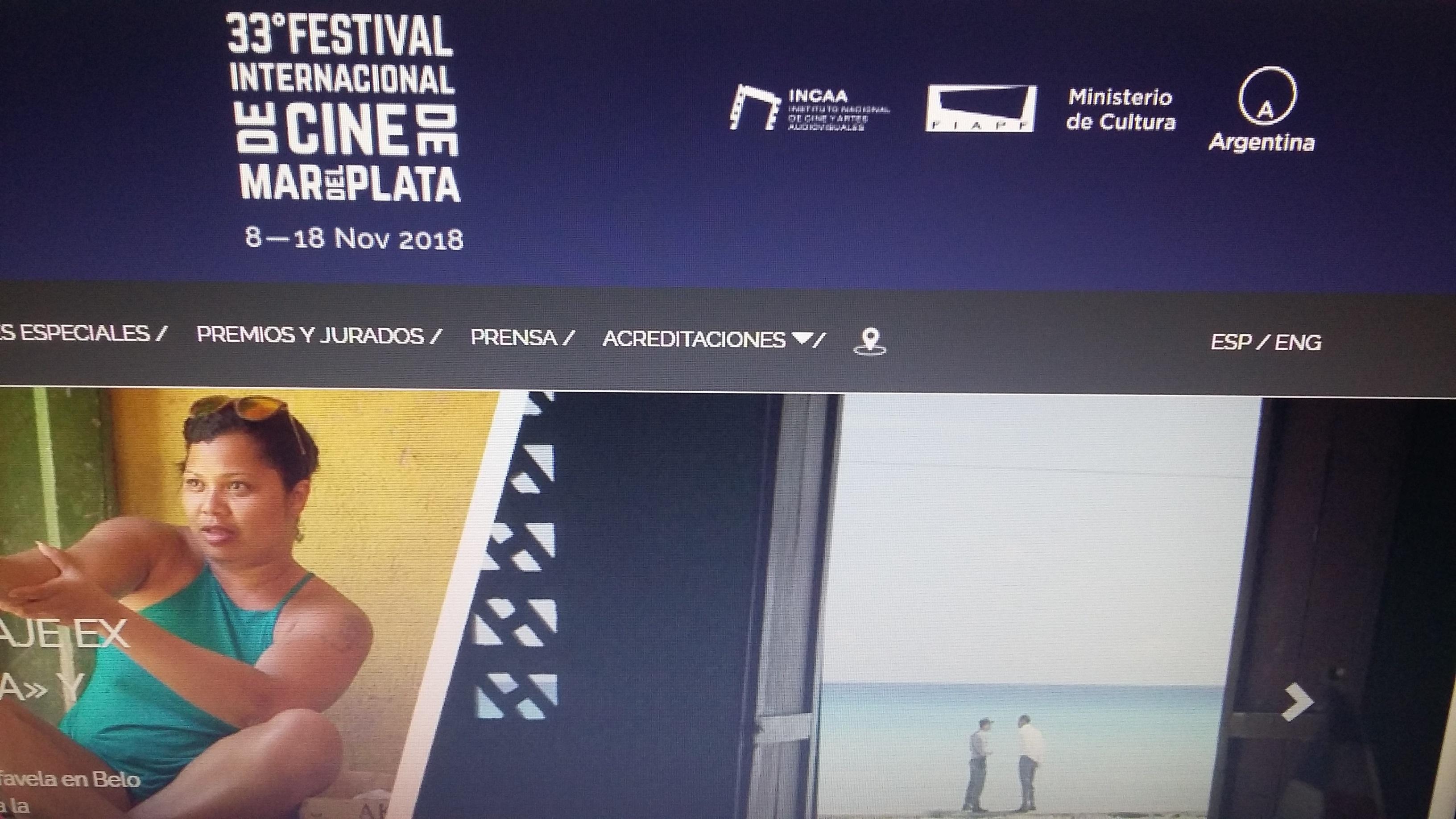 La página oficial del Festival con la fecha anterior.