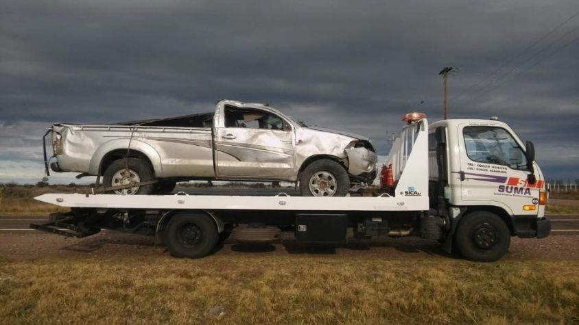 Murió un hombre tras volcar una camioneta en la ruta