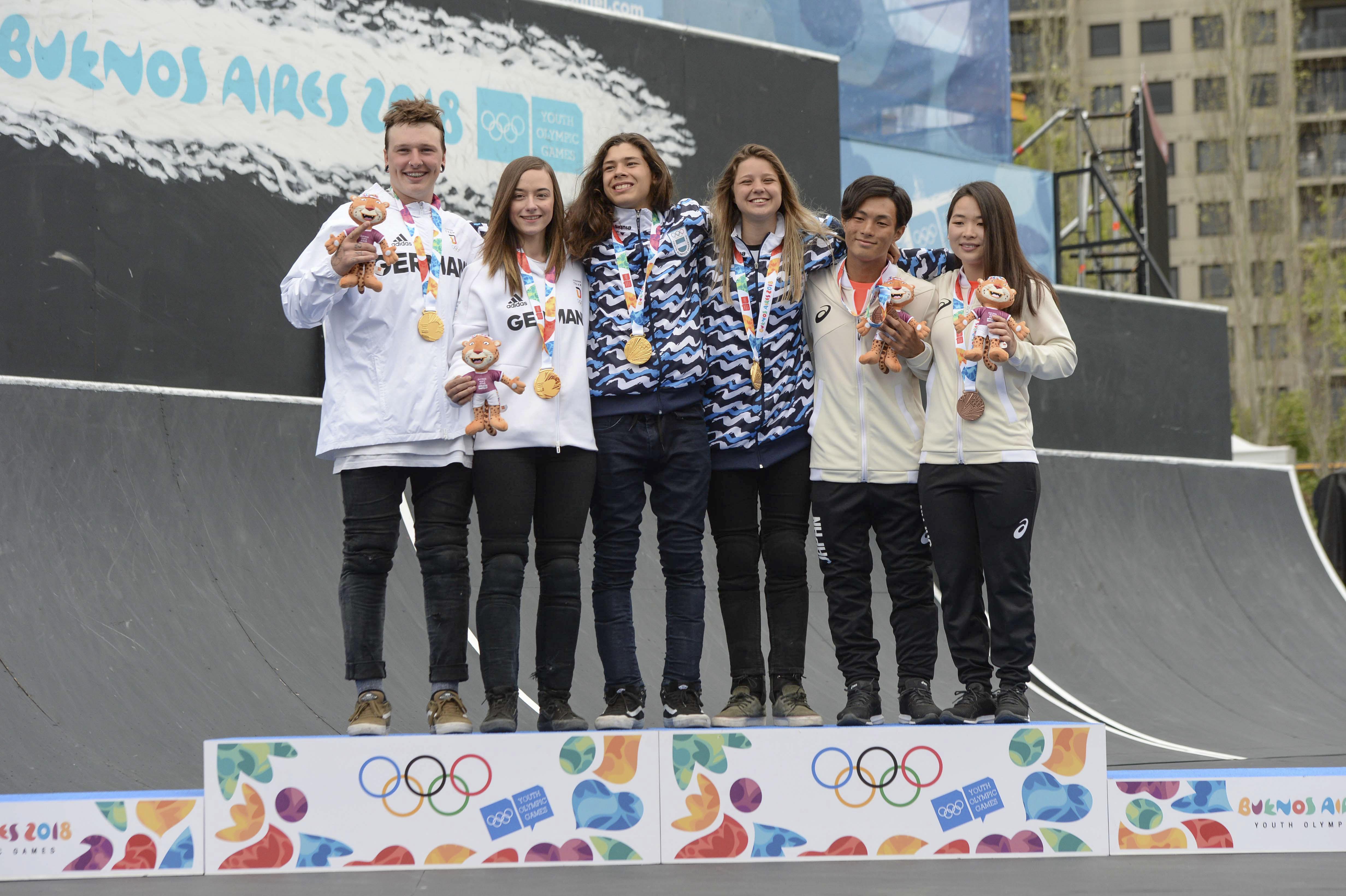 Agustina Roth e Iñaki Mazza lograron el oro en BMX.