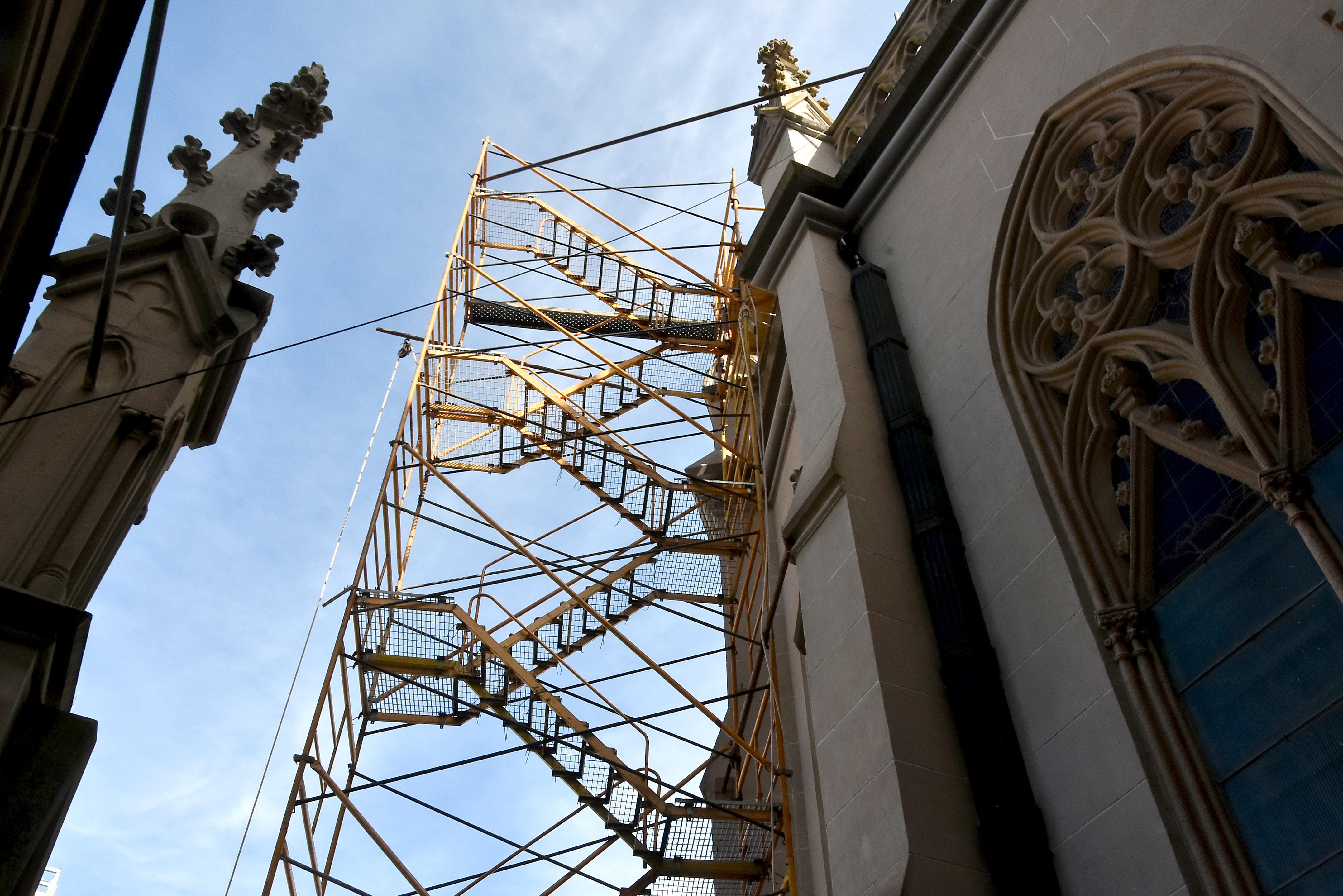 Avanza la refacción de la Catedral