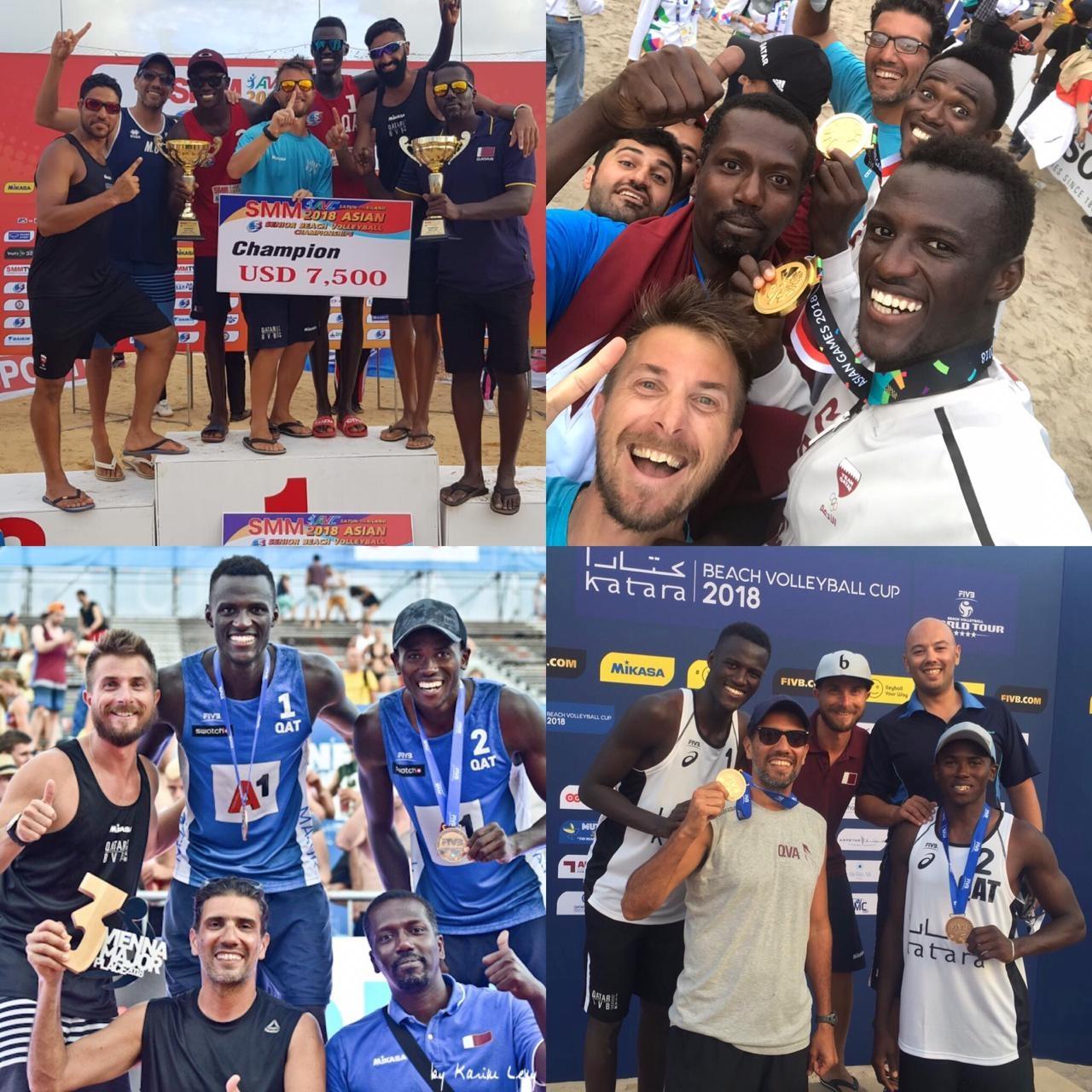 Hicieron entrar al beach volley en la historia deportiva de Qatar