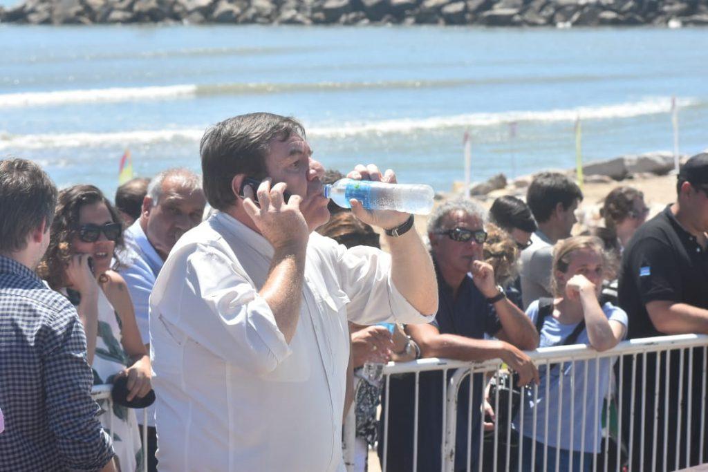 Guillermo Montenegro, cuando esperaba la llegada de Vidalal acto.