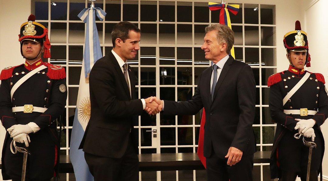 Macri recibió a Guaidó en la Quinta de Olivos