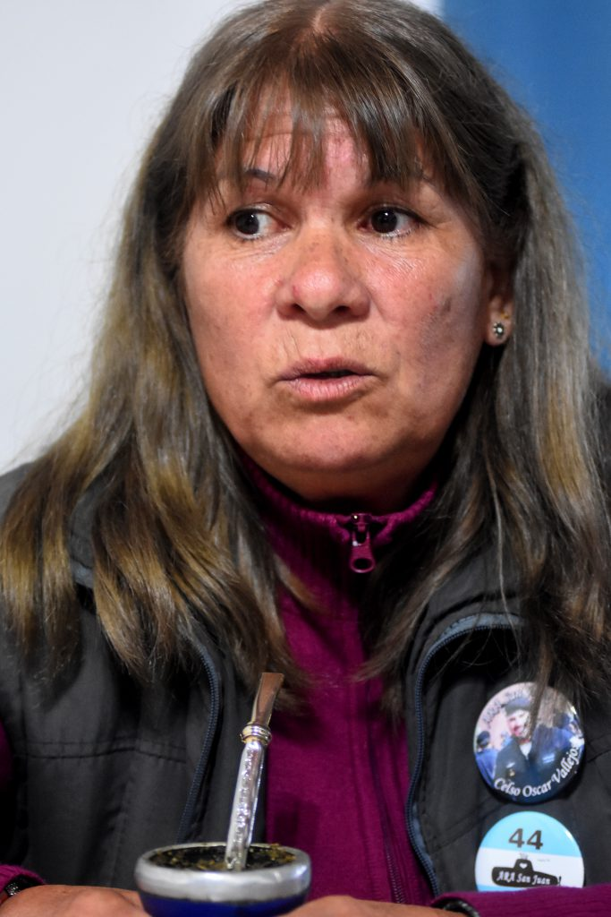Zulma Saldoval, madre de Celso Vallejos.
