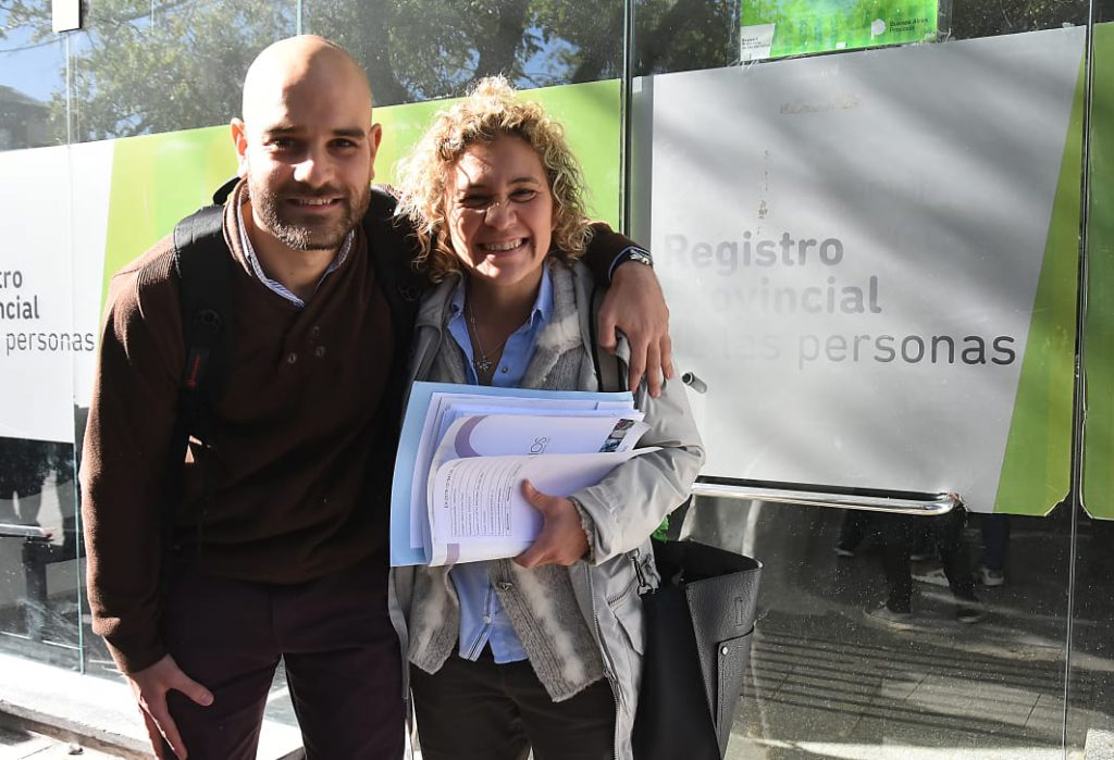 El psicólogo Jorge Visca y la abogada Claudia Vega.