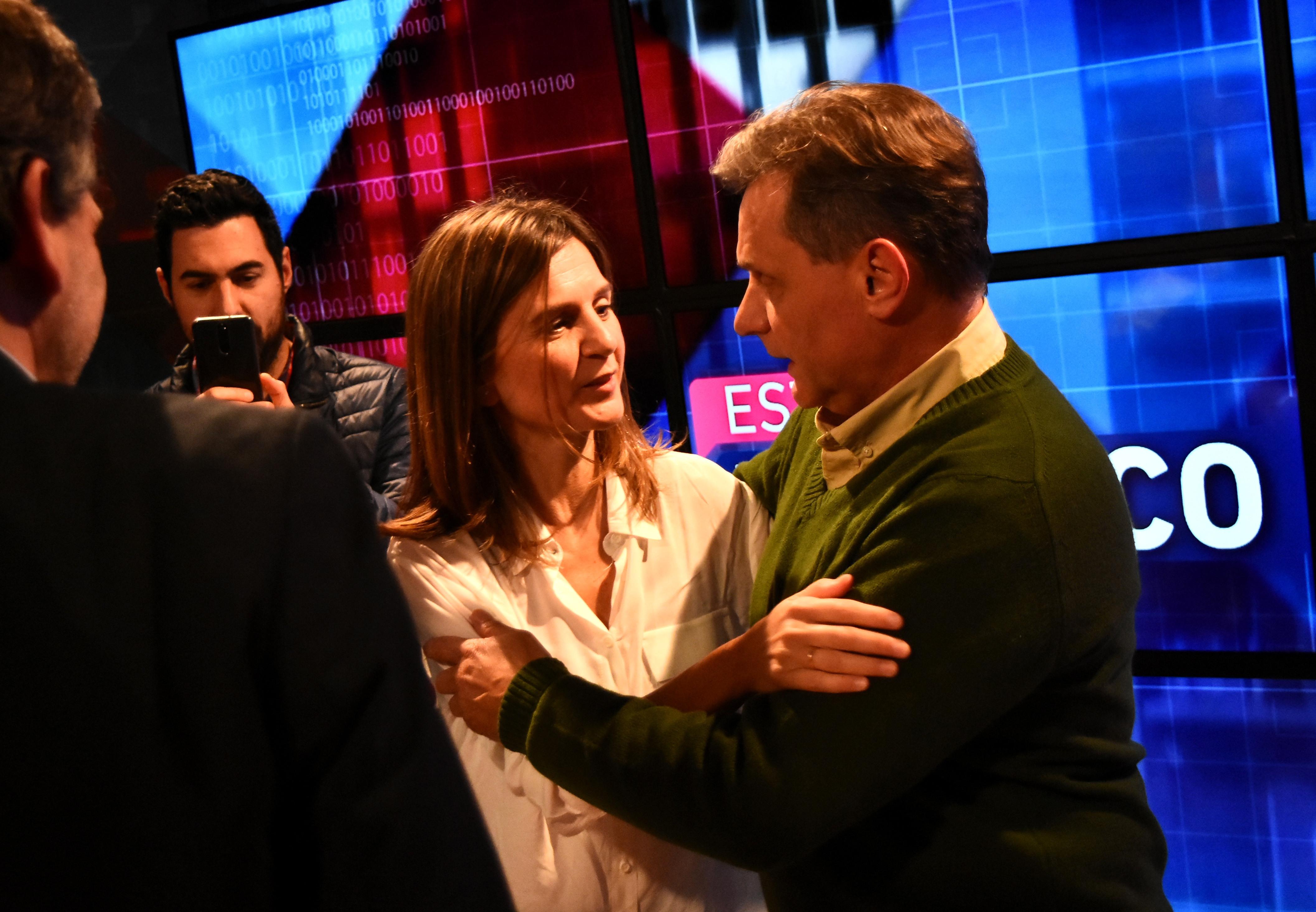Fernanda Raverta y Gustavo Pulti.