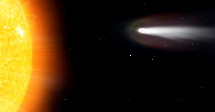 La NASA registra el momento en el que un cometa se estrella contra ...