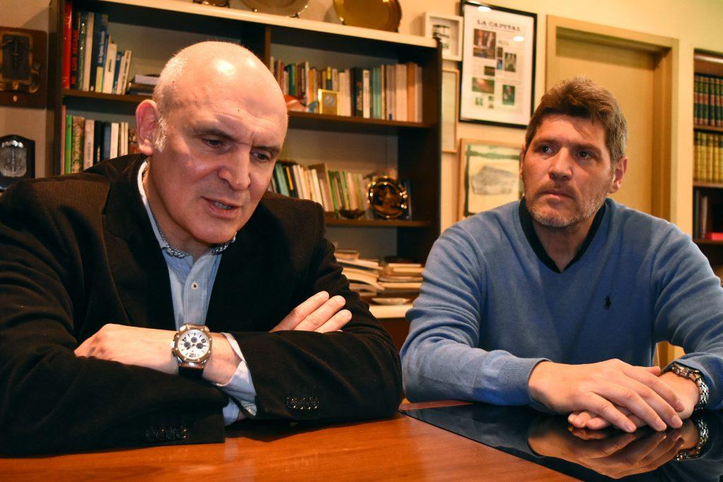 José Luis Espert, candidato a presidente del Frente Despertar, y Guillermo Castello, quien fue dado de baja antes de las PASO de su carrera para gobernador bonaerense.