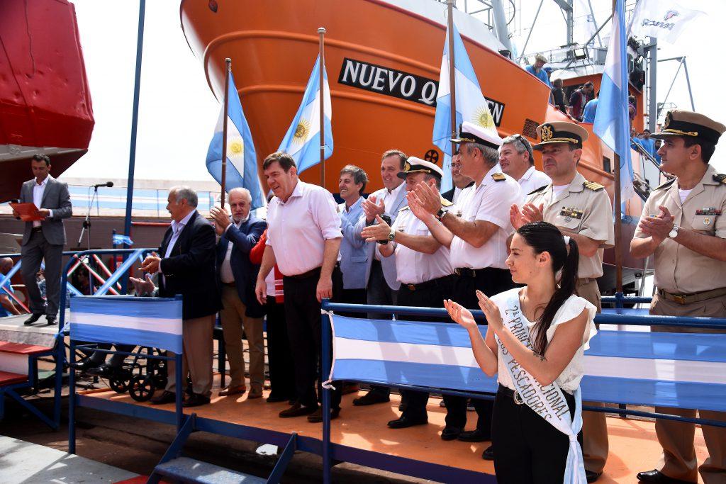 Botadura 132 e inauguración de nuevas instalaciones en Astillero Contessi de Mar del Plata