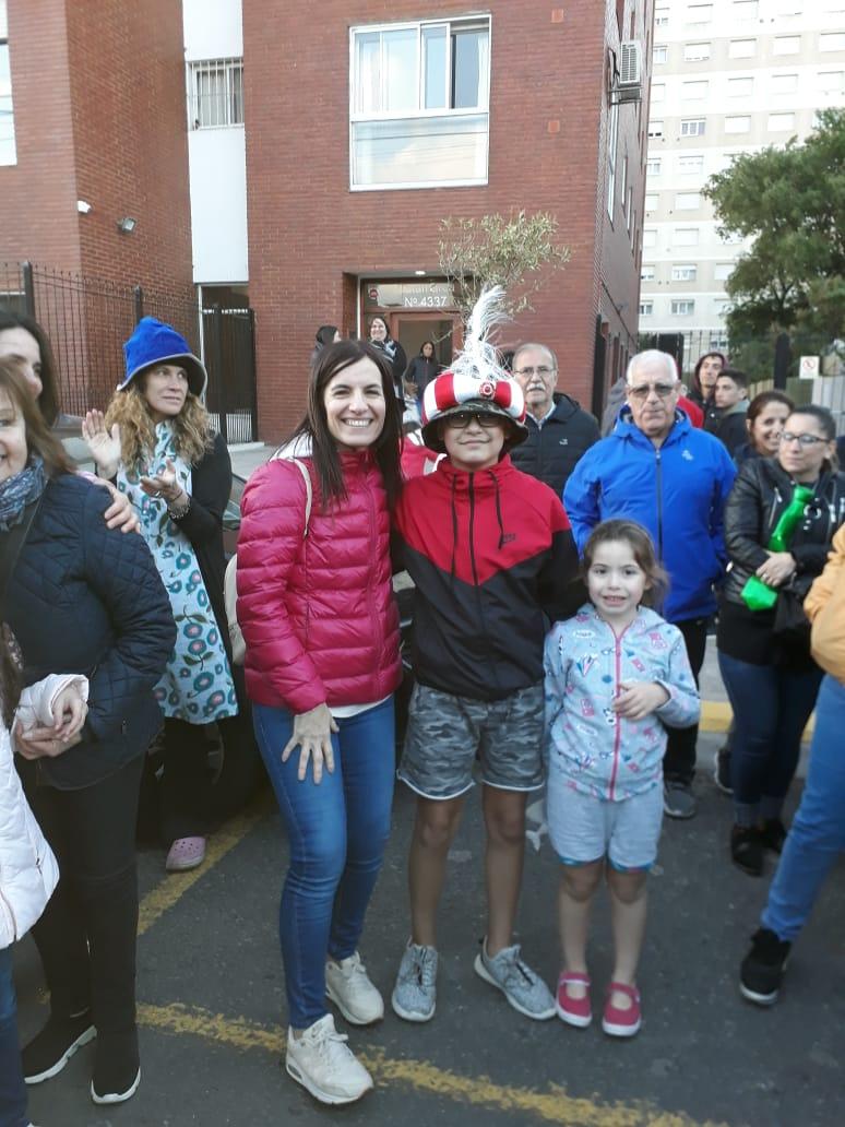 Franco junto a parte de su familia.