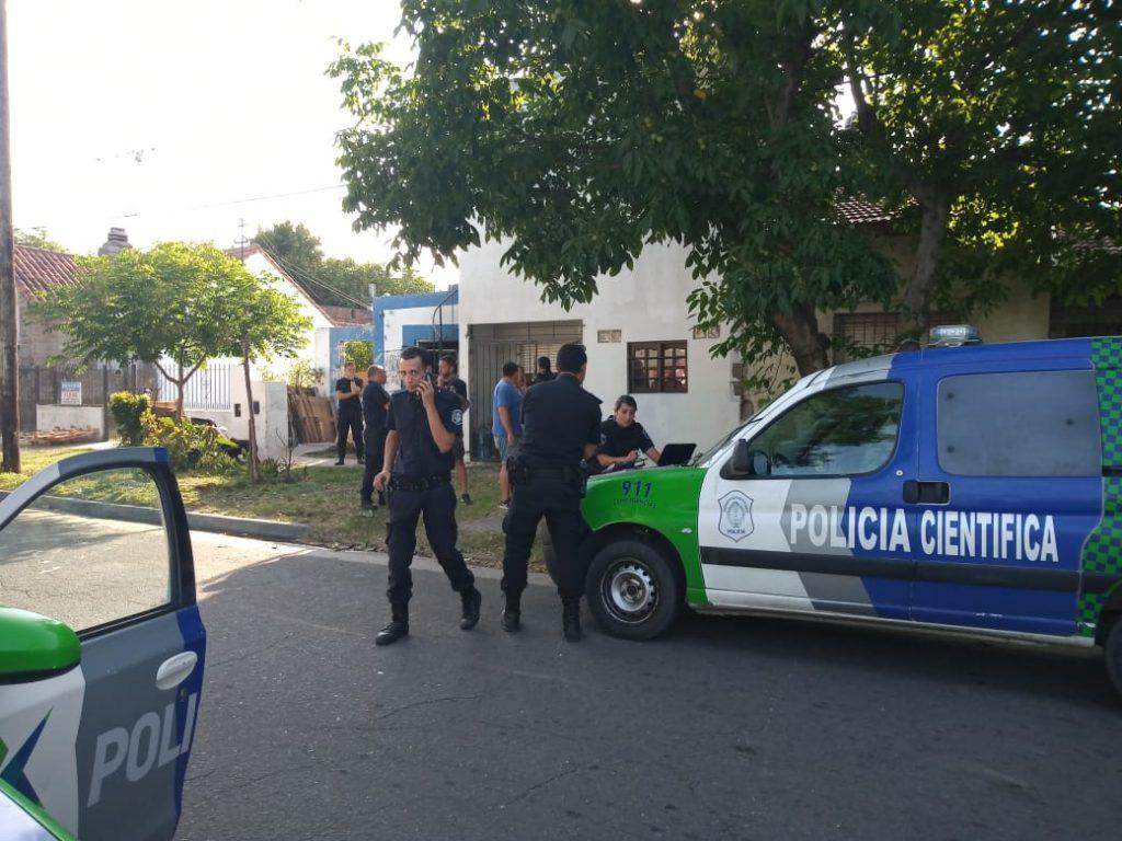 Frente de la casa donde mataron a David Cabral.