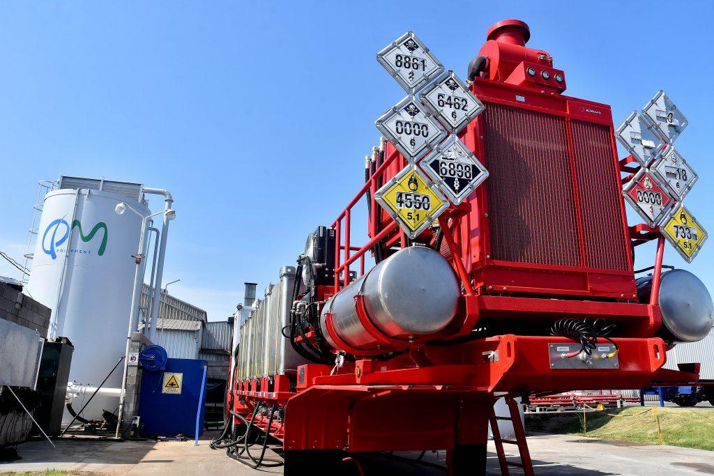 Uno de los más grandes equipos fabricados en QM para el transporte de gas licuado, que pronto será exportado a Rusia.