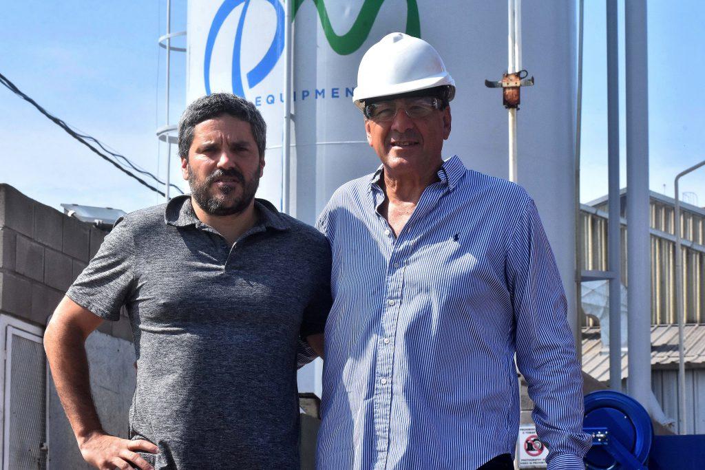 Socios, emprendedores y amigos. Pablo Fiscaletti, actual presidente de QM Equipment, y Marcelo Guiscardo.