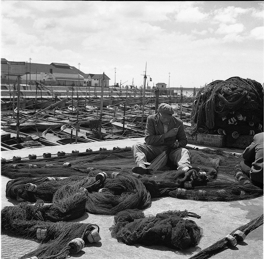 Típica imagen del puerto marplatense con su profusión de lanchas en los años '40. FOTO: Annemarie Heinrich.